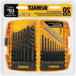 DEWALT Black Oxide Drill Bit Set, 20-Piece