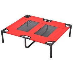 "Pawhut Elevated Dog Bed/Pet Cot, 36 x 30"", Red"