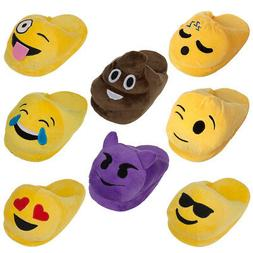 Emoji House Slippers Funny Soft Plush For Adults Kids Teens