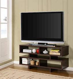 Kings Brand Espresso Finish Wood TV Stand Entertainment Cent