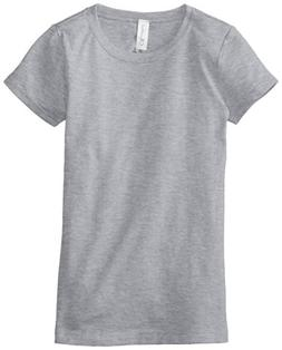 Clementine Big Girls' Everyday T-Shirt, Heather Grey, Medium