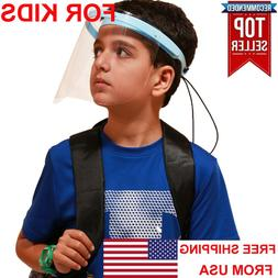 Face Shield Mask FOR KIDS BOYS GIRLS Protection Clear Plasti