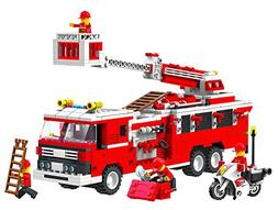 Top Race® Fire Truck Vehicle Building Set  with Fire Chief