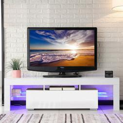 """63"""" Modern TV Stand Cabinet Console Furniture w/ LED Shelves"""