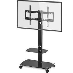 Floor Swivel 32 To 55 TV Mobile Stand W  Mount & 2-Shelv