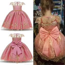 Flower Girl Kids Lace Princess Tutu Flower Girls Wedding Bir