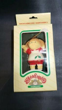 Cabbage Patch Kids Girl red dress Christmas Ornament 1983 Or