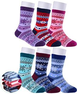 Girls Boys Wool Socks Thick Warm Thermal For Kid Child Toddl
