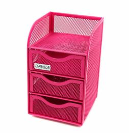 Girls Desk Organizer Drawers Pink Office Supplies For Kids T