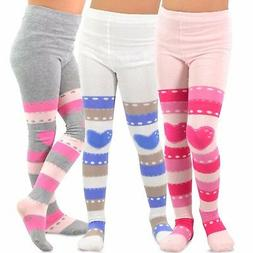 TeeHee Kids Girls Fashion Tights 3 Pair Pack