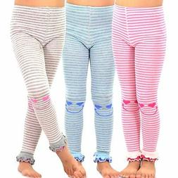 TeeHee Kids Girls Fashion Footless Tights 3 Pair Pack Happy