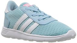 adidas Girls' LITE Racer INF Sneaker, ICE Blue/White/Energy