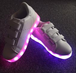 Girls or Boys Unisex LED Lights up Luminous Sneakers for Kid
