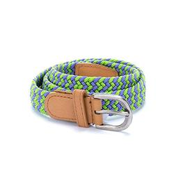 Peppercorn Kids Girls Woven Belt - Purple / Green )