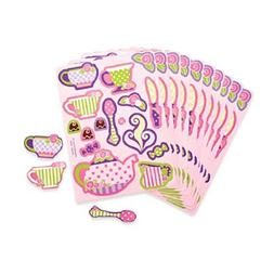 Fun Express Girly Tea Party Sticker Sheets  Toy