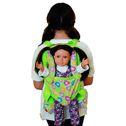 The Queen's Treasures Green Soft Plush Child Size Backpack B