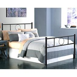 Green Forest Twin Bed Frame Platform with Headboard and Stab