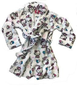 Komar Kids Hello Kitty Girls Robe/No hood   White