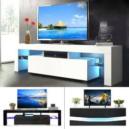 High Gloss LED Light TV Stand Unit Console Cabinet with Shel
