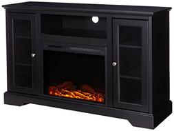 """WE Furniture 52"""" Highboy Fireplace TV Console with Remote -"""