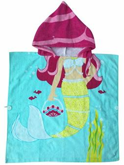 Mermaid Hooded Towel for 1-5 Years Toddler and Child Girls M