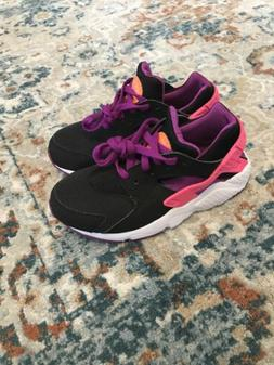 Nike Huarache big kids  Girls shoes Size 12C Pink/Purple/Bla