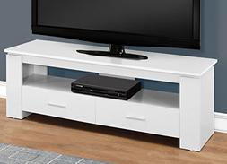 Monarch Specialties I 2601 TV STAND-48 L 2 Storage Drawers,
