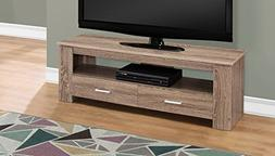 Monarch Specialties I 2602 TV STAND-48 L 2 Storage Drawers,