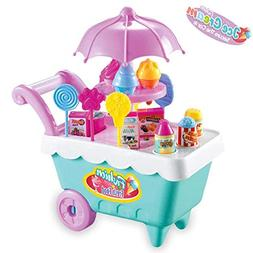 kolodo Ice Cream Candy Trolley?Pretend Play Food Supermarket