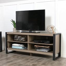 industrial wood tv stand console