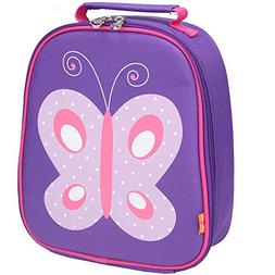 Yodo Kids Insulated Lunch Tote Bag with Name Tag for Girls,