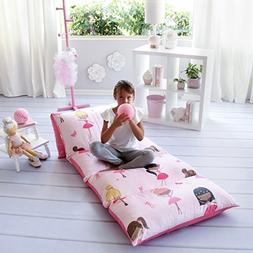 Kid's Floor Pillow Bed Cover - Use as Nap Mat, Portable Todd