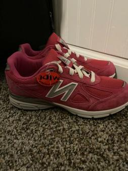 New Balance Kid's 990v4 Big Kids Female Shoes Pink Size 5 Wi