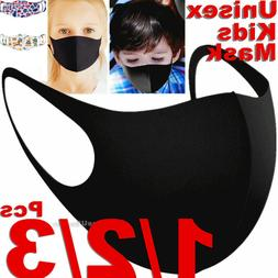 Kids Boys Girls Child Black Unisex Face Masks Cloth Mask Cov