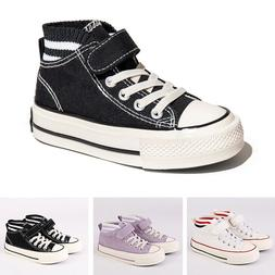 KIDS BOYS GIRLS JUNIORS LACE UP CANVAS CASUAL SHOES TRAINERS