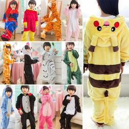 Kids Boy Girls Nightwear Sleepwear Animal Cosplay Costume Ho