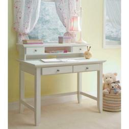 Kids Desk Hutch Set White Drawers Girl Teen Furniture Office