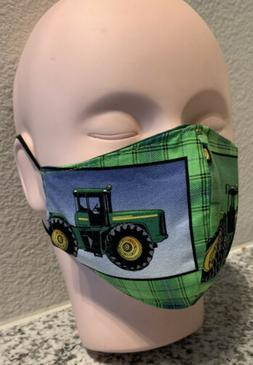Kids Farm Truck Handmade Mask Boys, Girls Two Layers 100%Cot