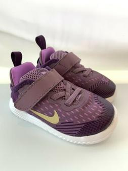 Kids Nike Free Run 2018  Violet Dust/MTLC Gold Star Size 12C
