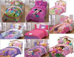 KIDS GIRLS BEDDING COMFORTERS WITH MULTIPLE DISNEY CHARACTER