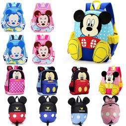 Kids Girls Boy 3D Cartoon Mickey Mouse Backpack Anti-Lost Ru