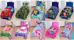KIDS GIRLS BOYS TWIN PLUSH BLANKET WITH MULTIPLE DISNEY CHAR