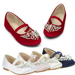 Kids Girls Flat Shoes Casual Mary Jane Shoes Princess Party