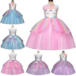 kids girls rainbow clothes unicorn princess party