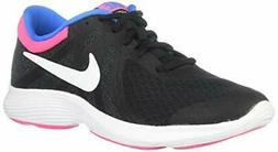 Kids Nike Girls Revolution 4 Fabric Low Top Lace Up Running,