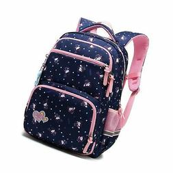 Kids Girls School Backpack with Chest Strap Princess Cute Bi