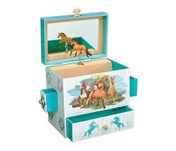 Kids Jewelry Box For Girls Teens With Musical Horse Storage