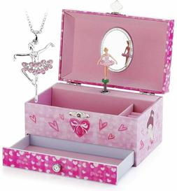 Kids Musical Jewelry Box for Girls with Drawer and Jewelry S