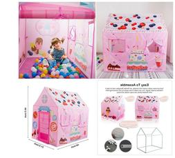 KidsPlay Tent Princess Playhouse Castle House For Girl Ind