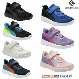 DREAM PAIRS Kids Sneakers Boys Girls Mesh Strap Sporty Tenni